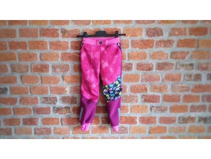 Softshellové kalhoty růžové 110-116