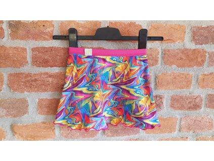 8B sukně dívčí úplet barevný vzor 98 104 (1)