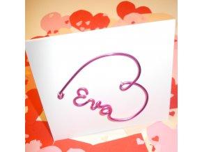 Luxusní přáníčko k Valentýnu