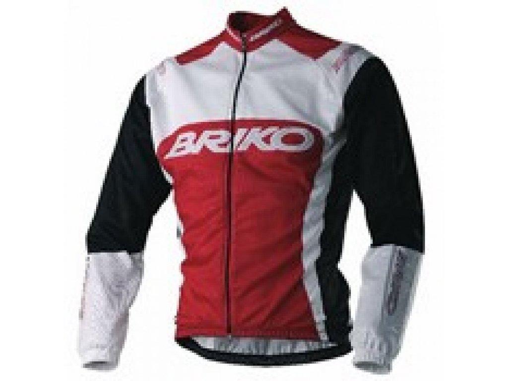 Briko JERSEY ls CREW Black n Red