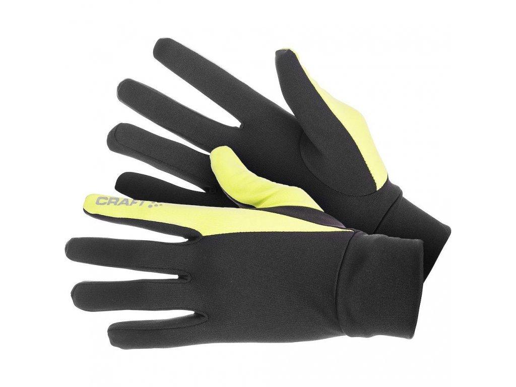 Craft THERMAL GLOVE  Black n Yellow