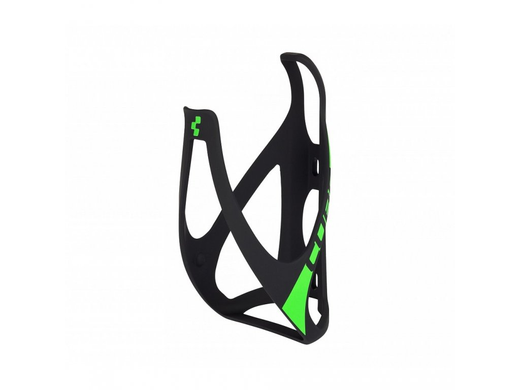 Cube BOTTLE CAGE HPP Mat  Black n Green