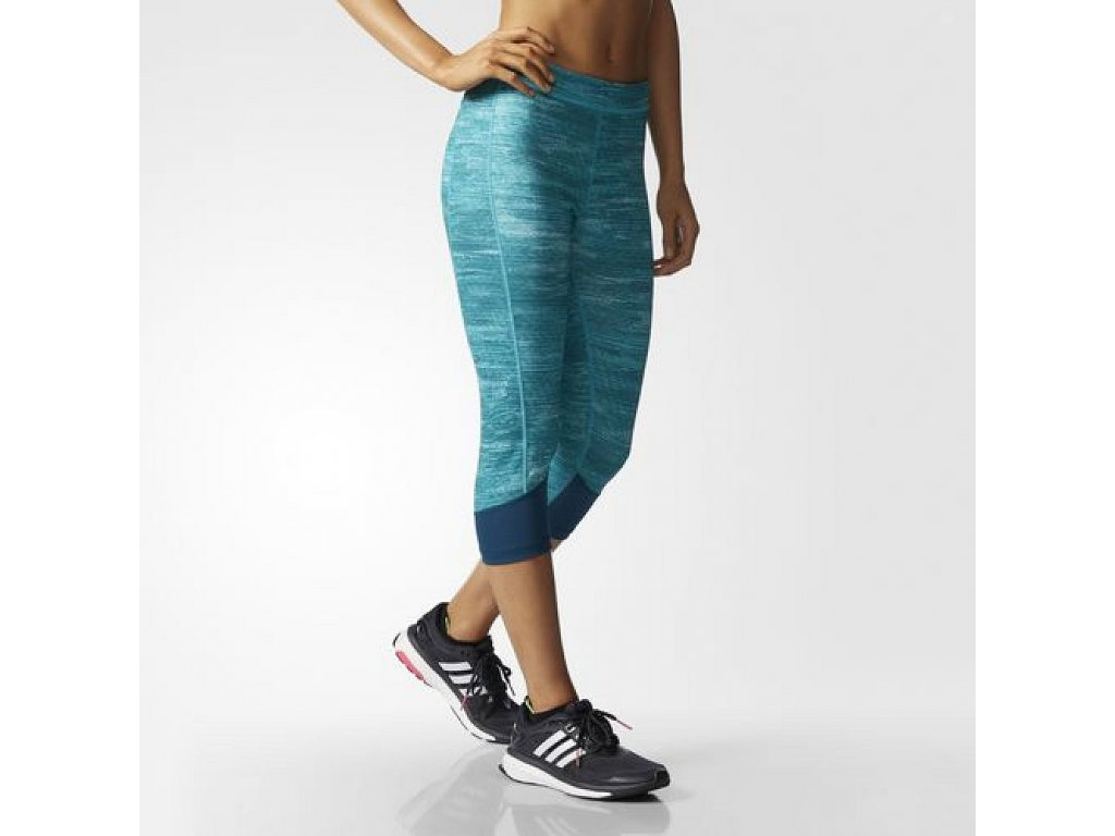 Adidas Techfit Printed Heather Capris