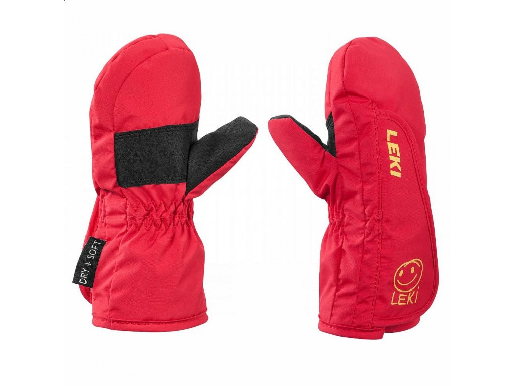 Leki Leki Glove Smiley Kids Mitt red-yellow-black
