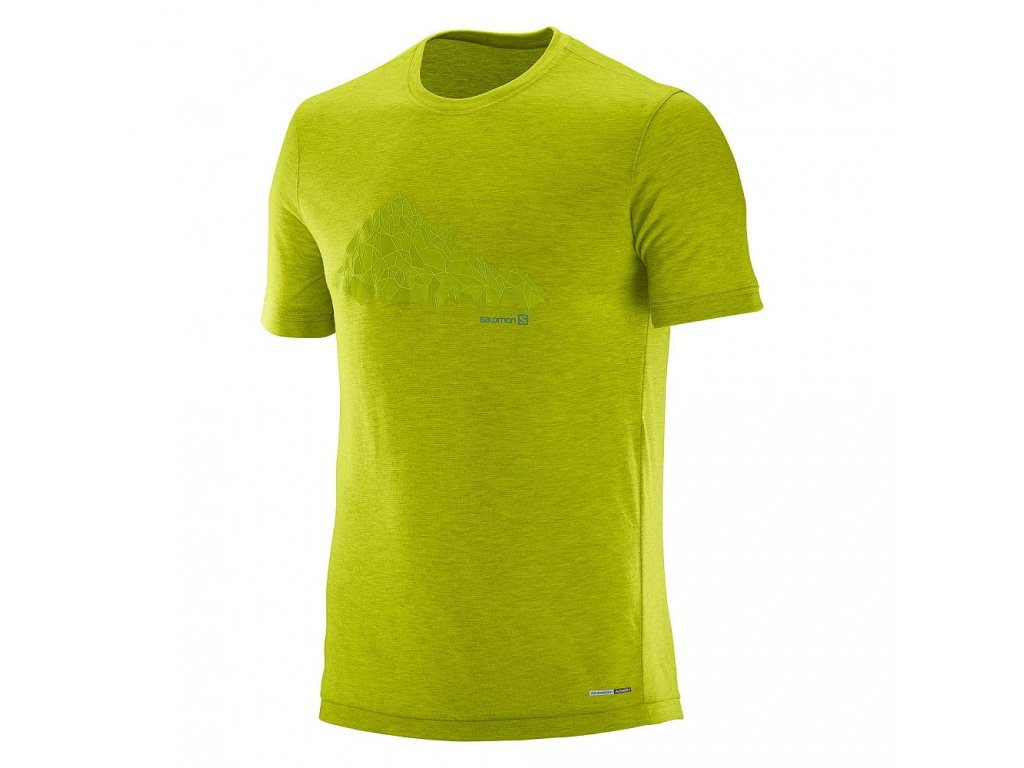Salomon EXPLORE GRAPHIC SS TEE Lime Punch