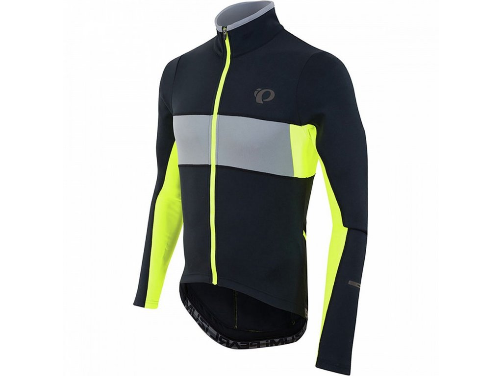 PEARL iZUMi Elite Thermal Jersey Black n Yellow