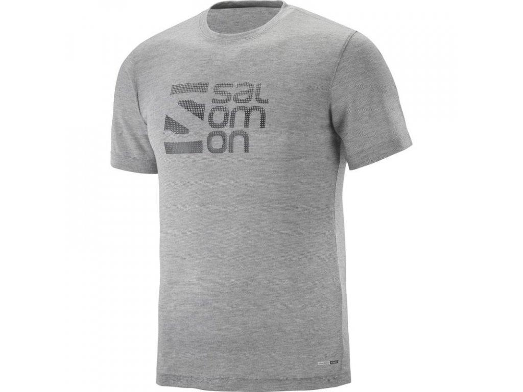Salomon EXPLORE GRAPHIC SS TEE M Light Grey 40114100