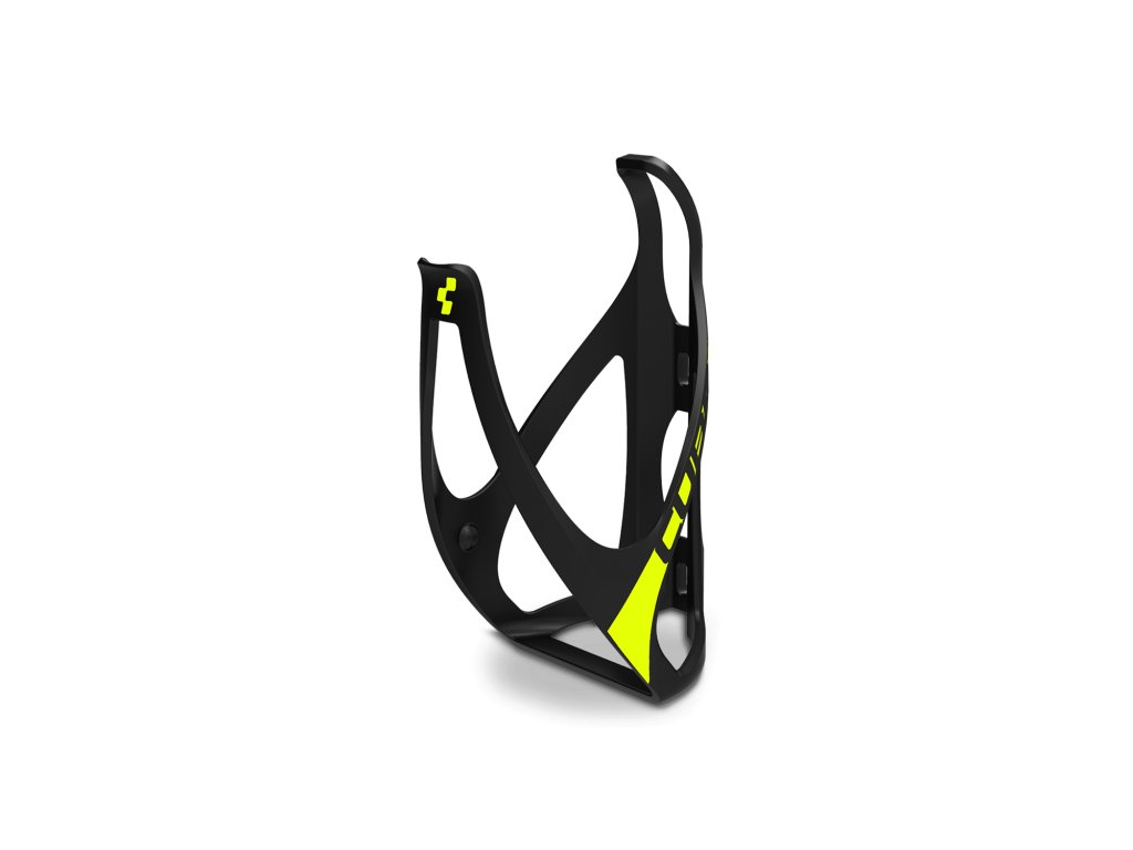 Cube BOTTLE CAGE HPP Mat  Black n Yellow
