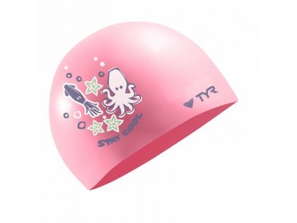 Tyr STAY COOL SILICONE CAP - ružová