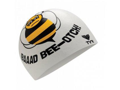 Tyr GOOD/BAD BEE-OTCH SILICONE CAP - biela