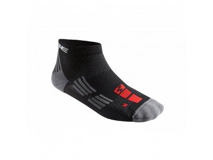 Cube SOCKS RACE CUT BLACKLINE - čierna/červená/šedá
