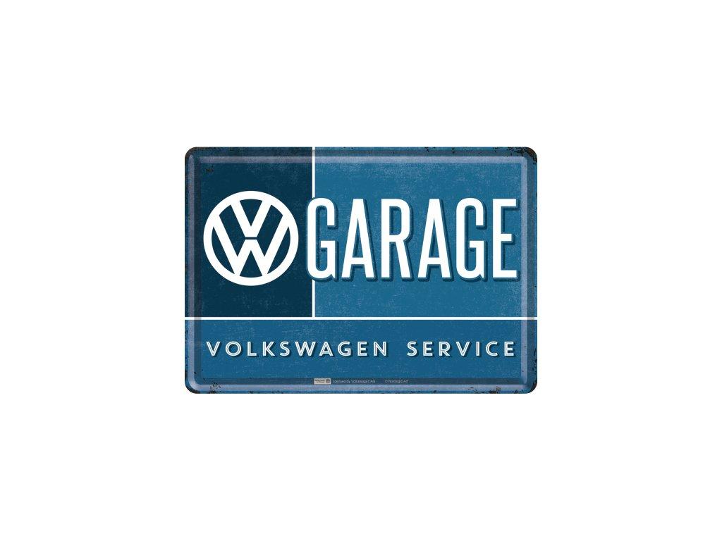 Plechová Pohľadnica VW Garage