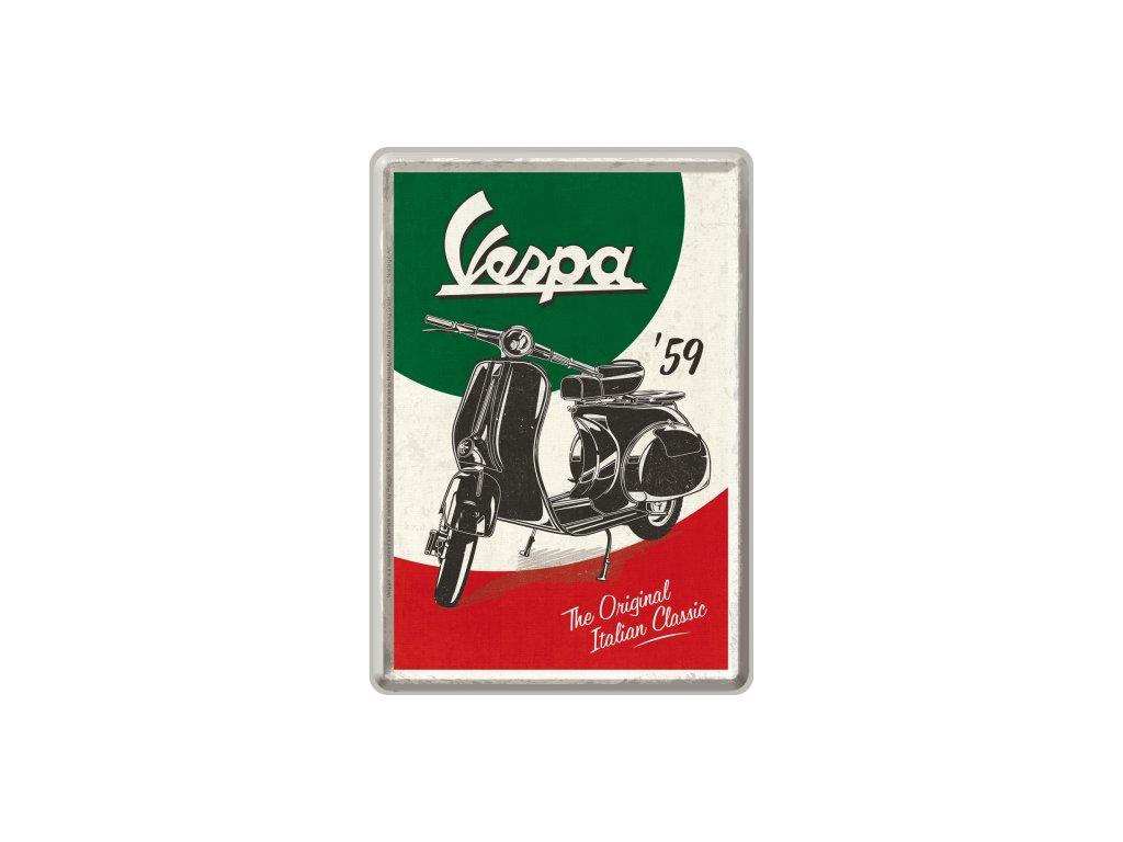 Plechová Pohľadnica Vespa