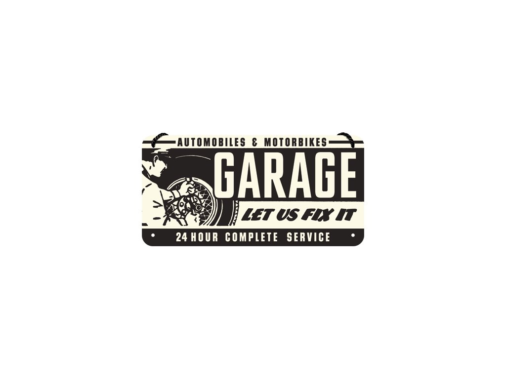 Plechová Ceduľa Garage