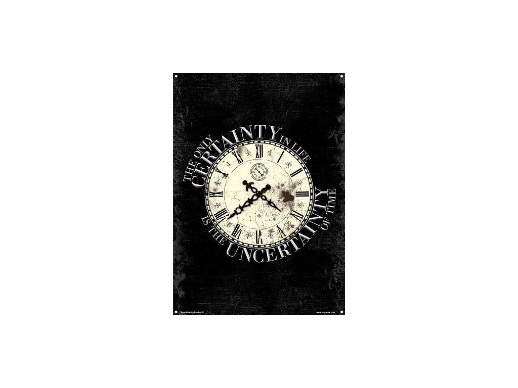 Plechová Ceduľa Uncertainty Of Time