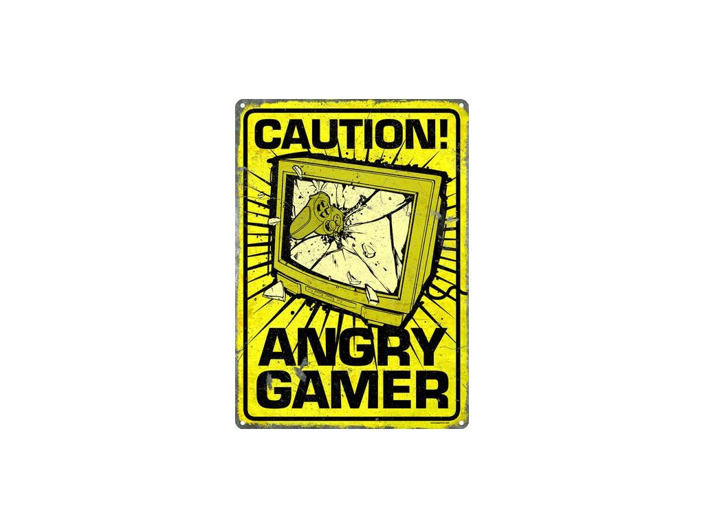 Plechová Ceduľa Angry Gamer