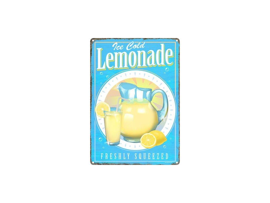 Plechová Ceduľa Ice Cold Lemonade