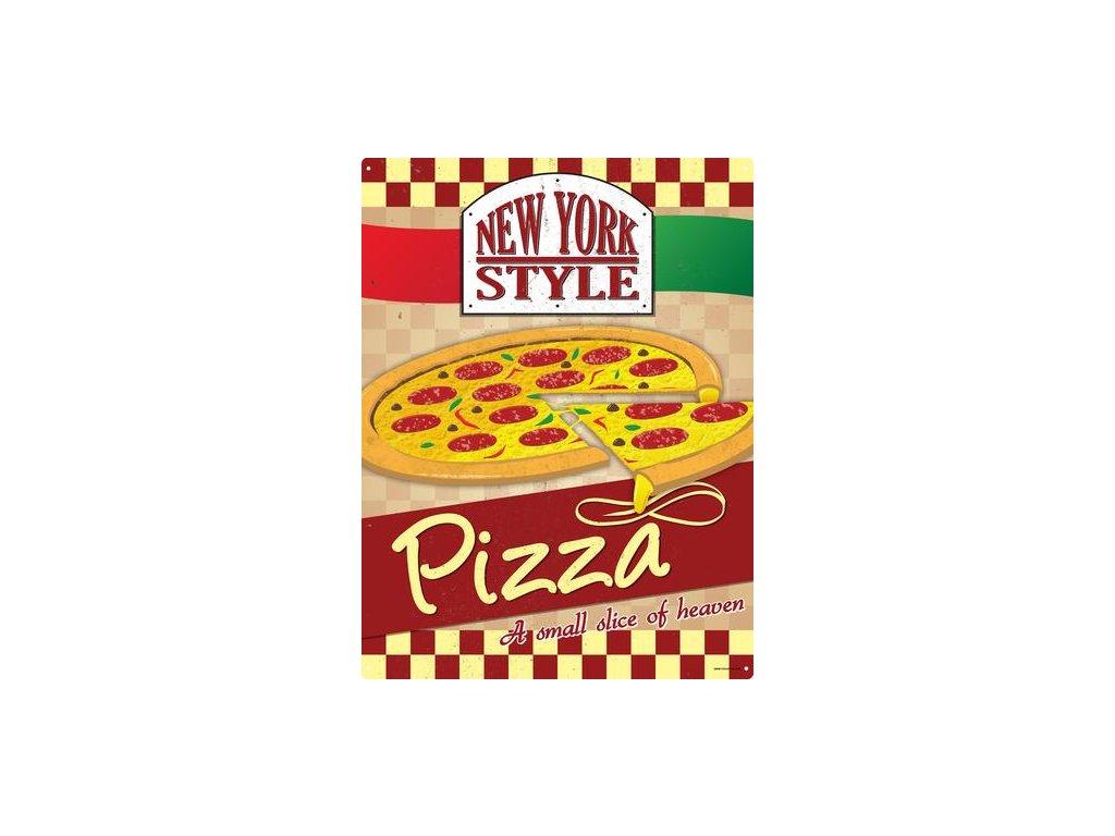 Plechová ceduľa New York Style Pizza
