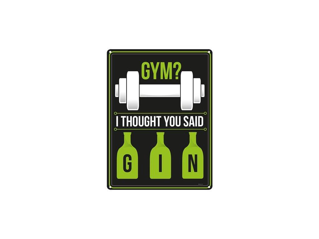 Plechová Ceduľa Gym - Gin