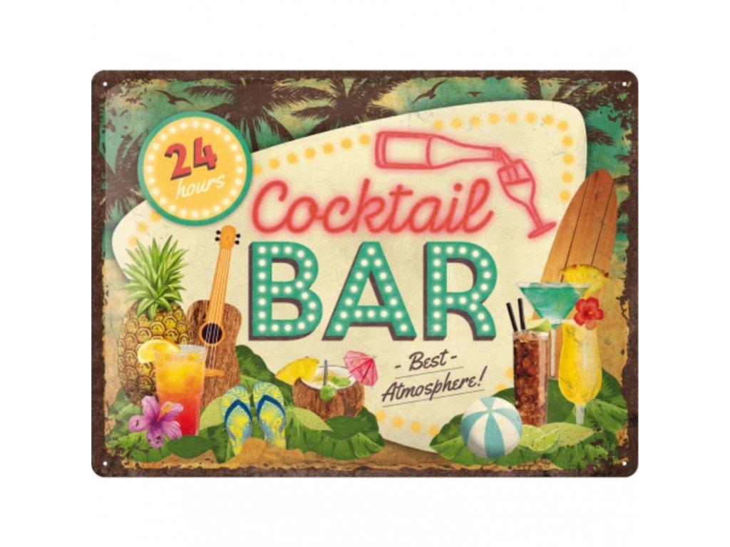 Plechová Ceduľa Cocktail Bar