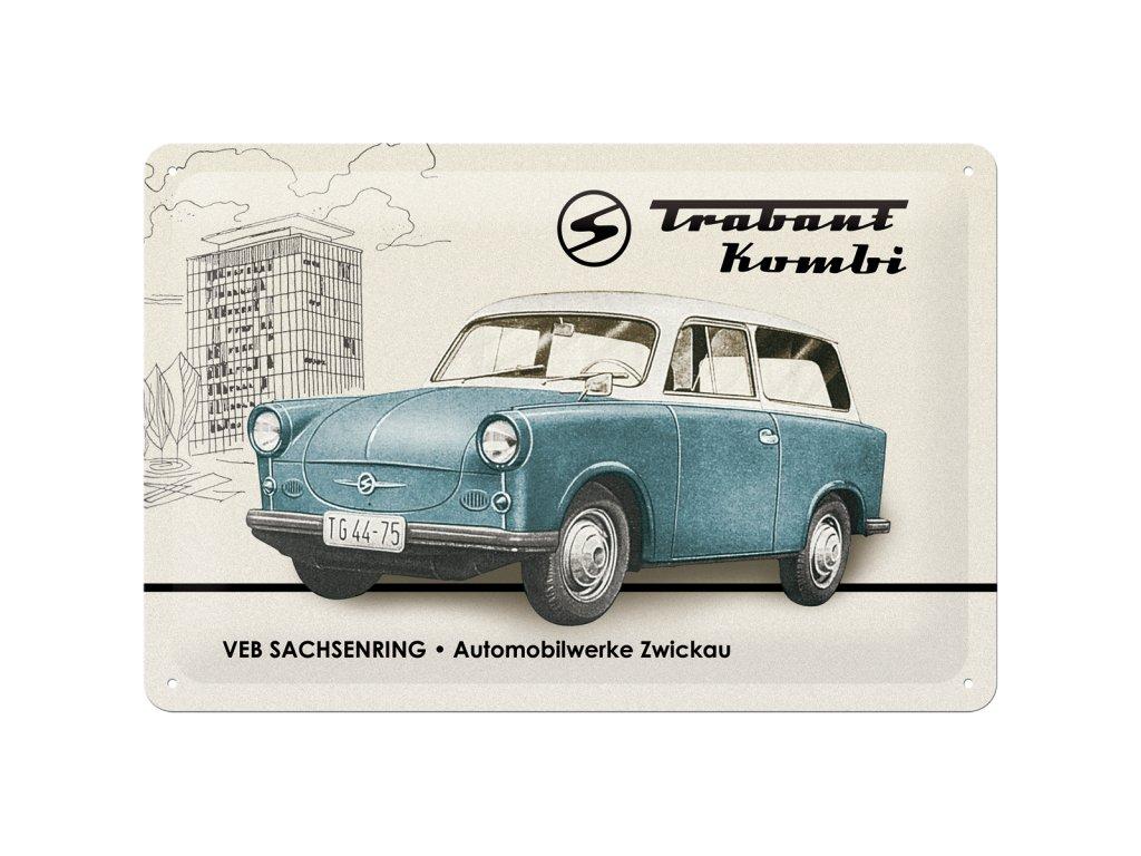 Plechová Ceduľa Trabant Kombi