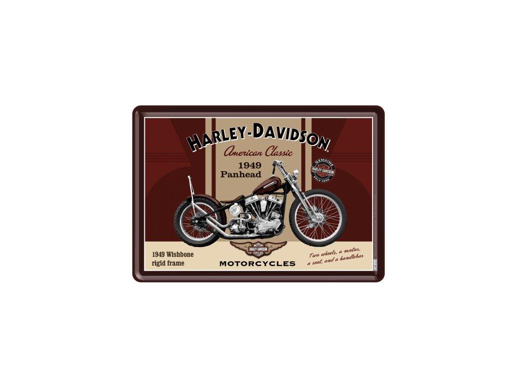 Plechová Pohľadnica Harley-Davidson 1949 Panhead