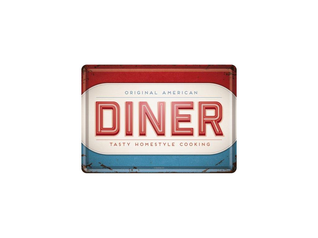 Plechová Pohľadnica Original American Diner