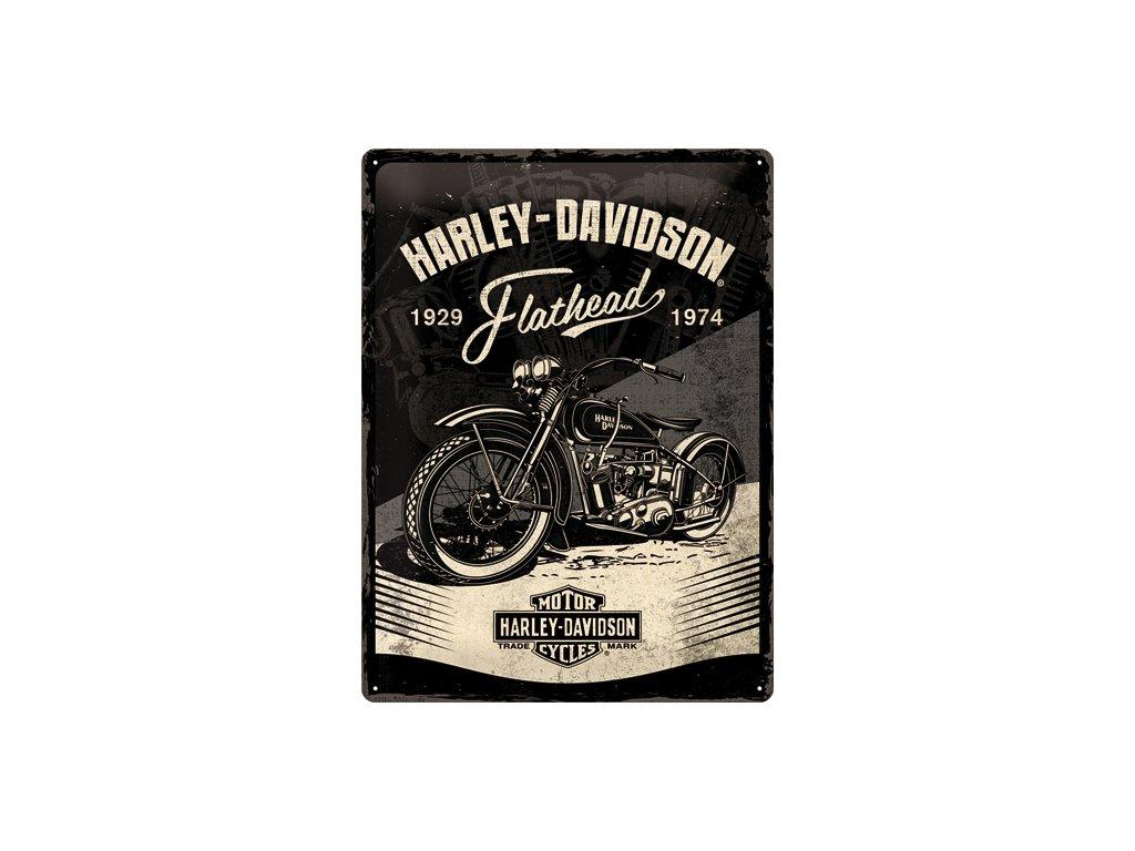 Plechová Ceduľa Harley-Davidson (Flathead Black)