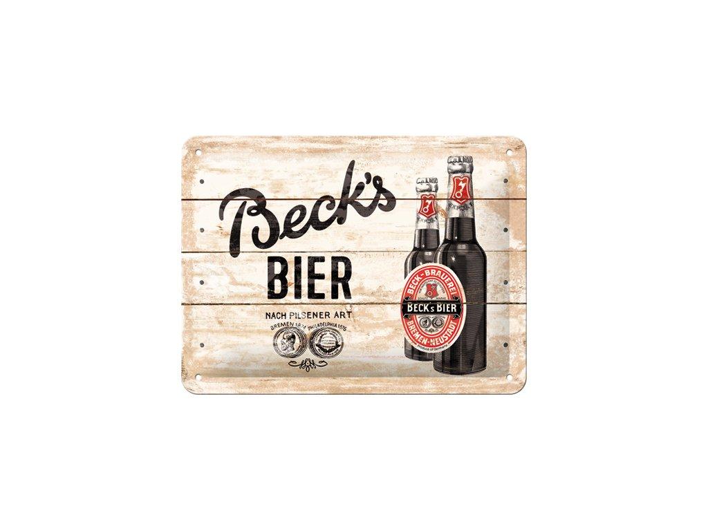 Plechová Ceduľa Beck's Bier