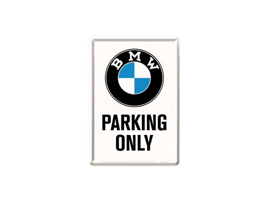 Plechová Pohľadnica BMW Parking Only