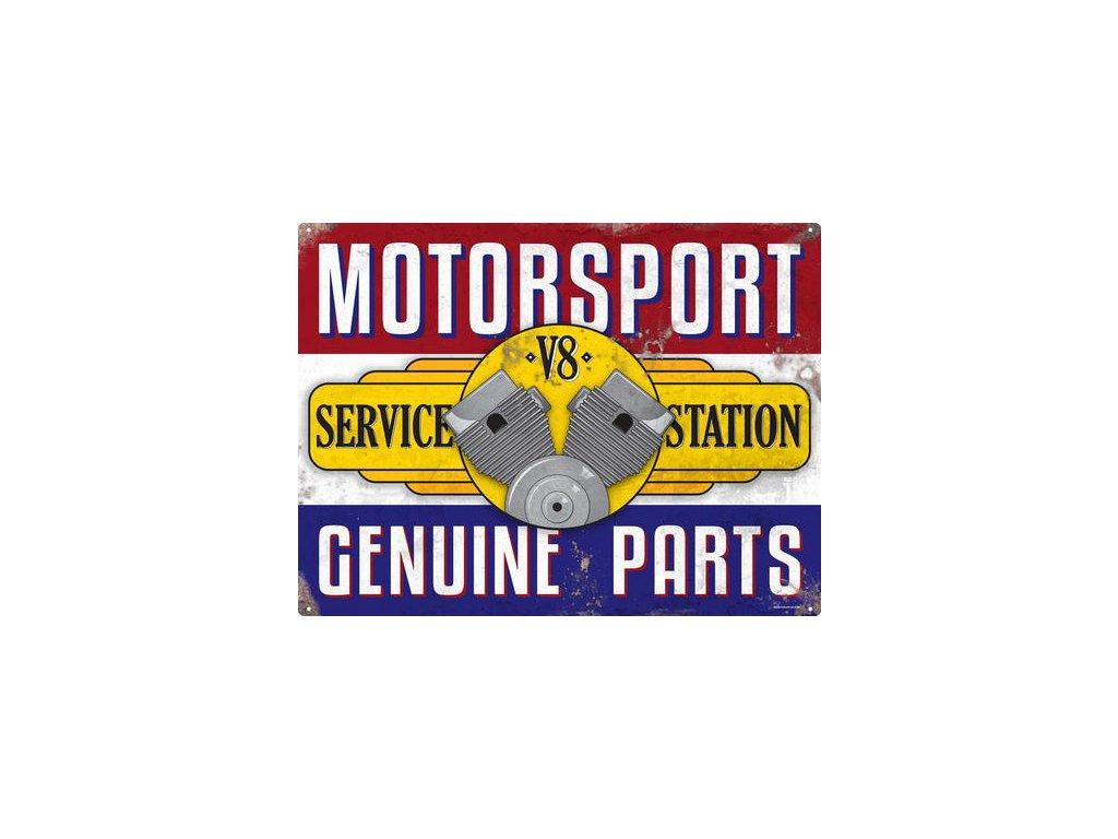 Plechová Ceduľa Motorsport Service