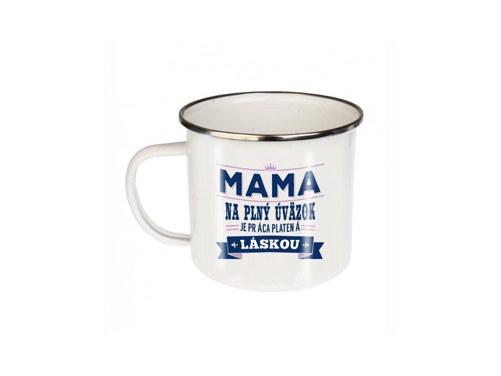 Plechový smaltovaný hrnček Mama
