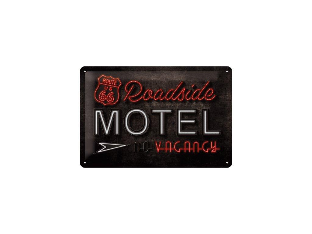 Plechová Ceduľa Route 66 Motel