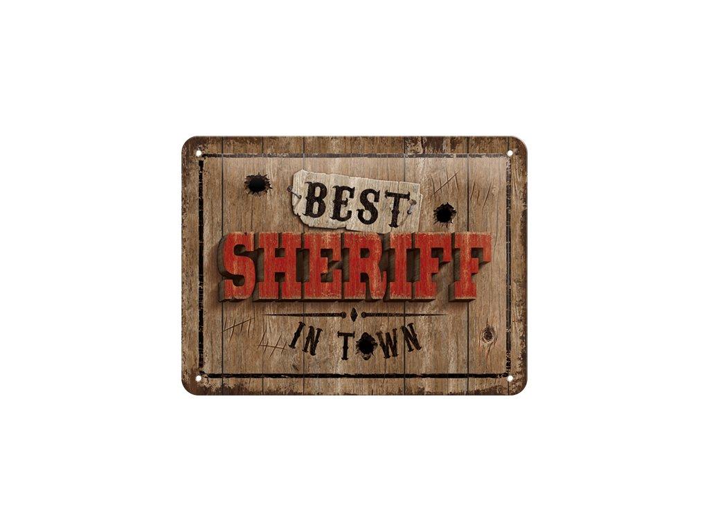 Plechová Ceduľa Best Sheriff in Town