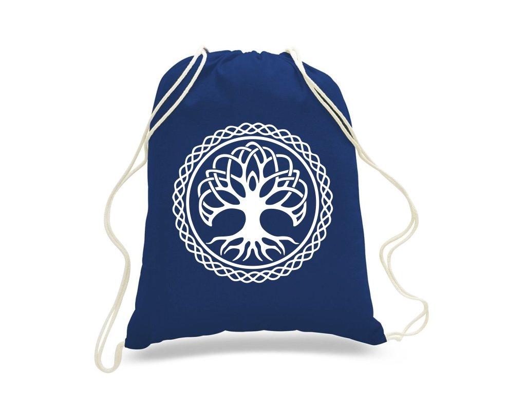 Plátený Batoh Strom Života - Modrý