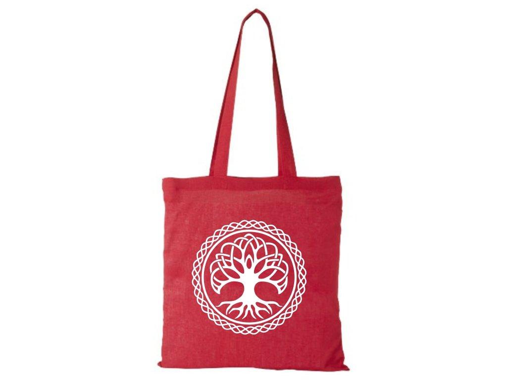 Bavlnená Taška Strom Života - Červená