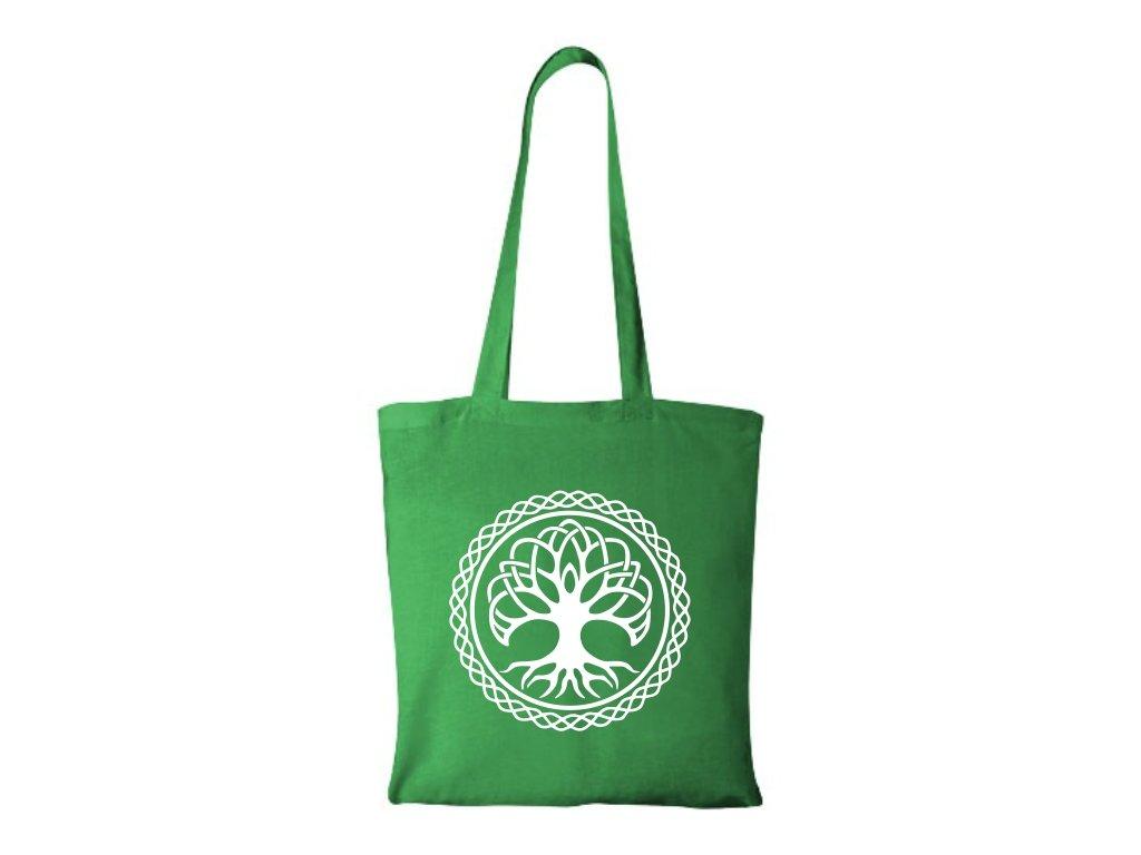 Bavlnená Taška Strom Života - Zelená