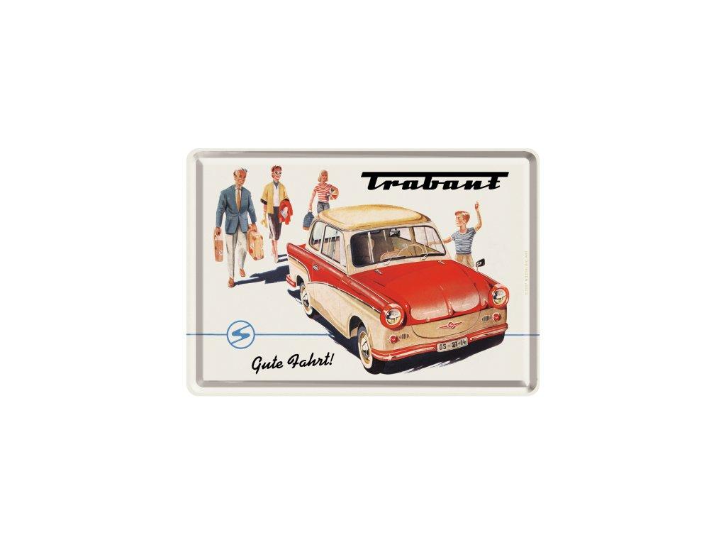 Plechová Pohľadnica Trabant