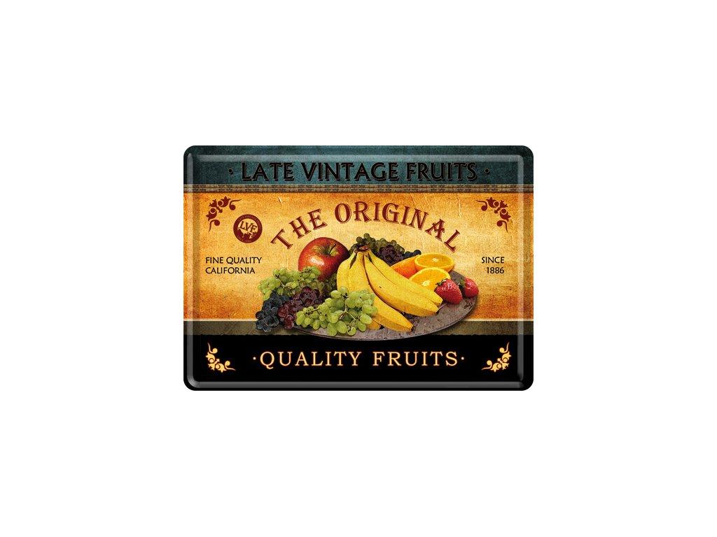 Plechová Pohľadnica Vintage Fruits