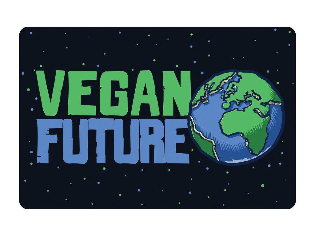 Plechová Ceduľka Vegan Future