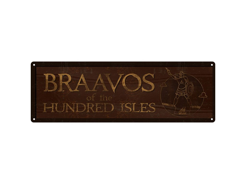 Plechová Ceduľa Braavos Of The Hundred Isles