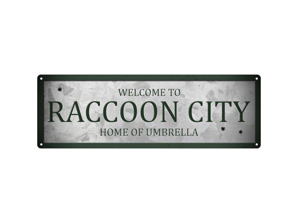 Plechová Ceduľa Raccoon City