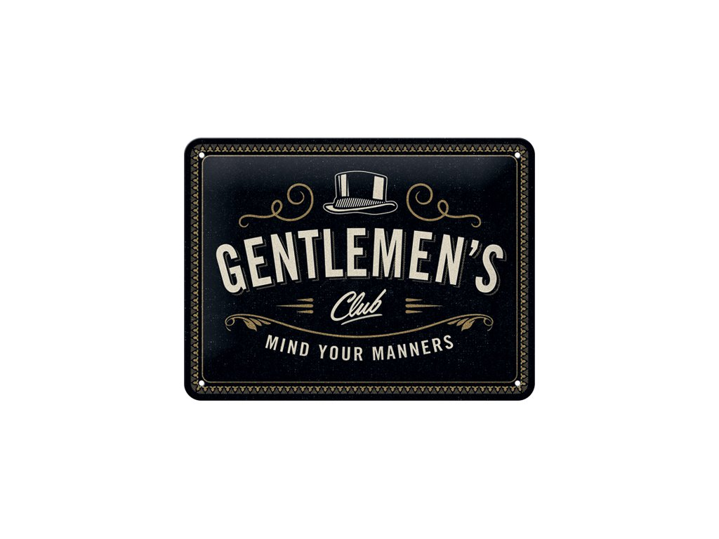 Plechová Ceduľa Gentlemen's Club