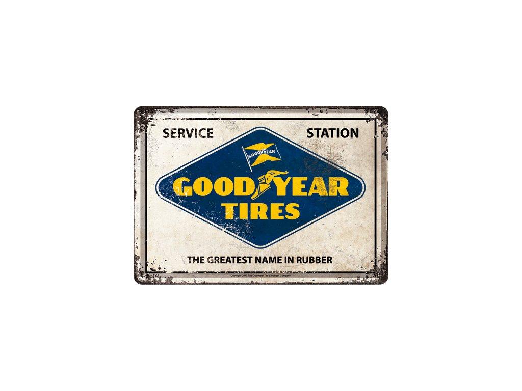 Plechová Pohľadnica Good Year Tires