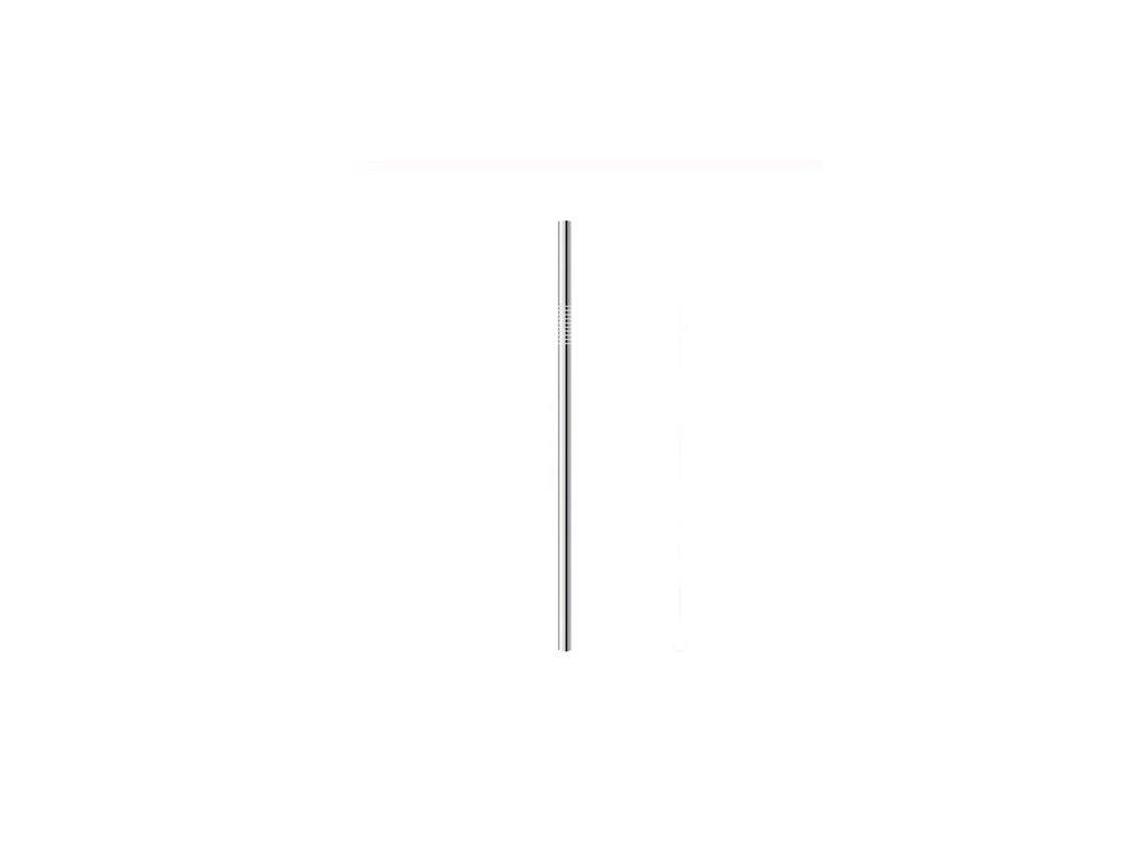 Nerezová slamka rovná - Strieborná