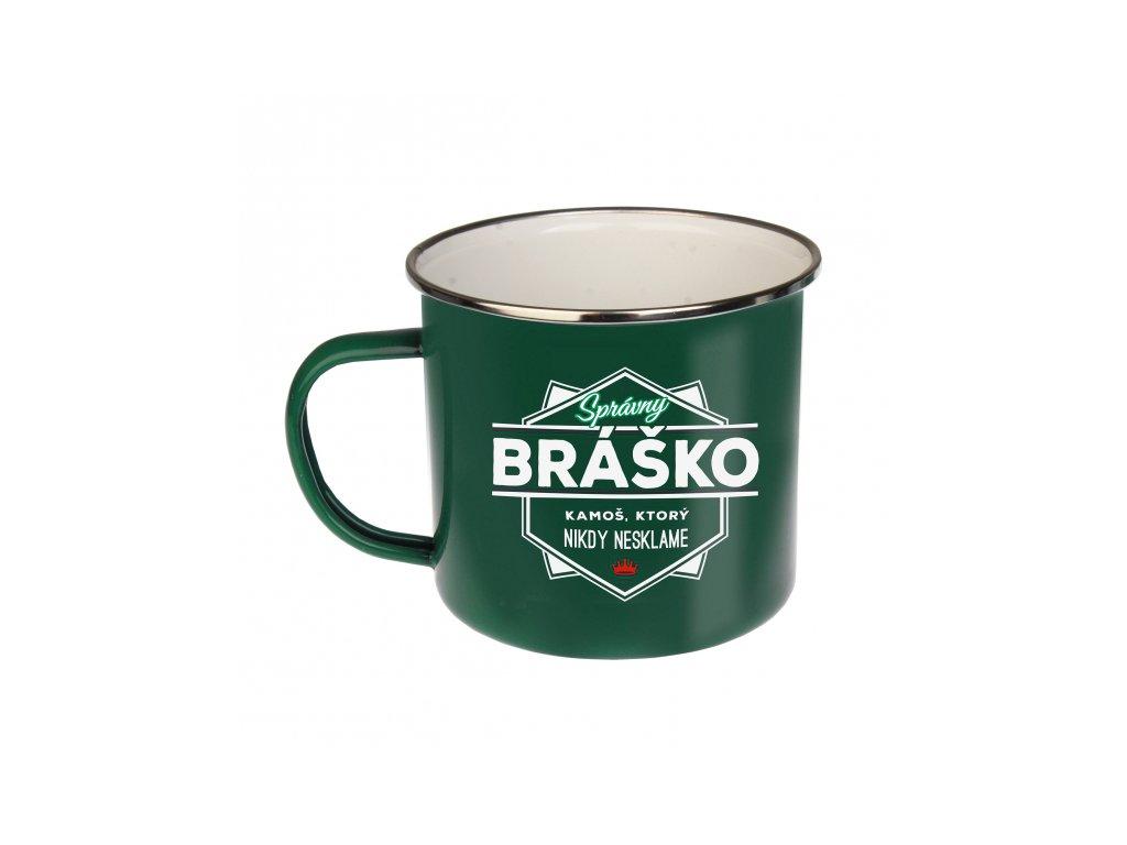 Plechový Hrnček Správny Bráško