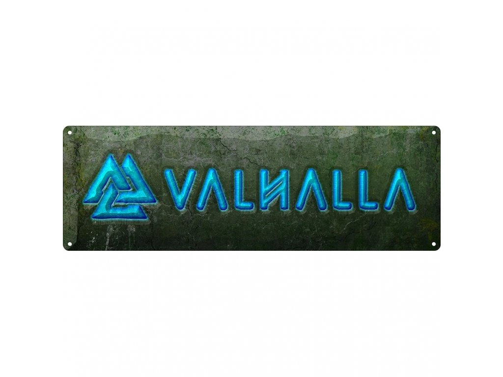 Plechová Ceduľa Valhalla