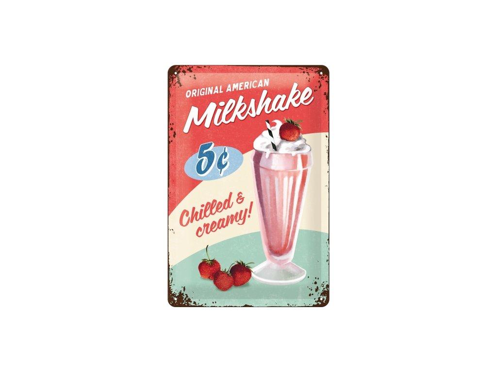 Plechová Ceduľa Original Milkshake