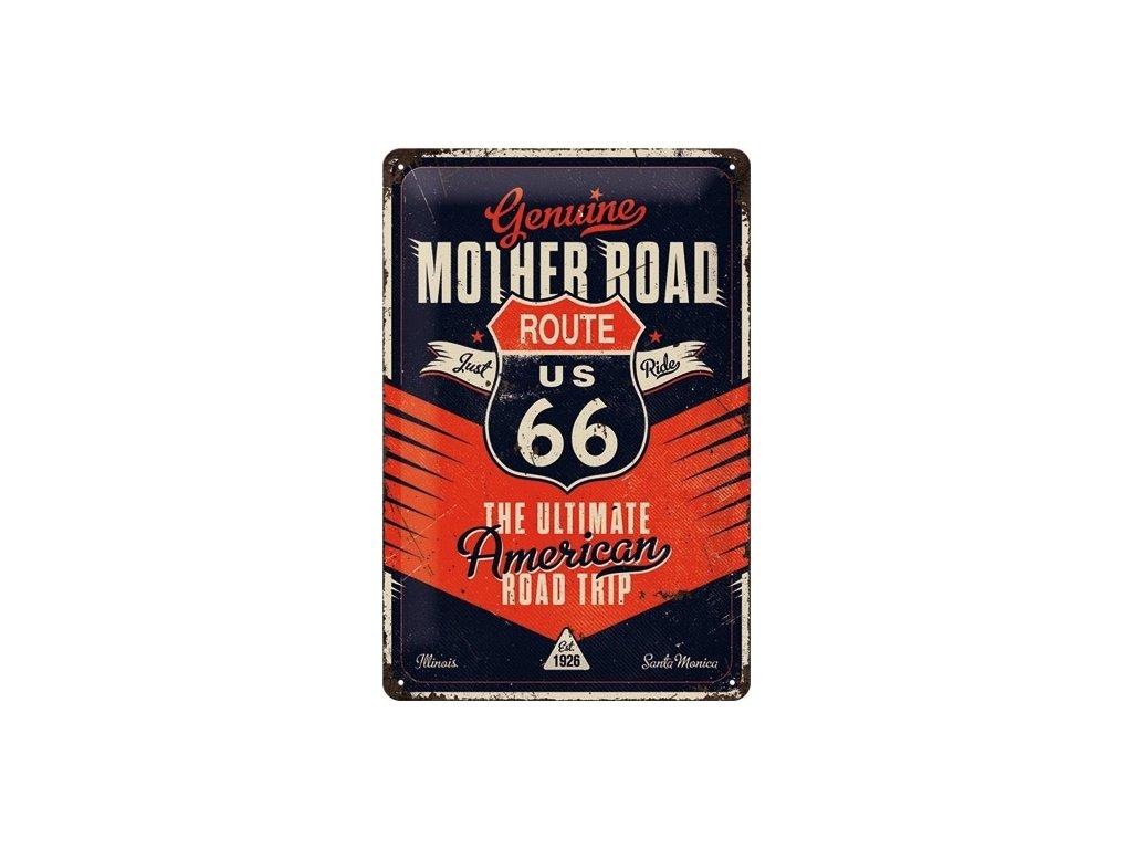 Plechová Ceduľa Route 66 Mother Road
