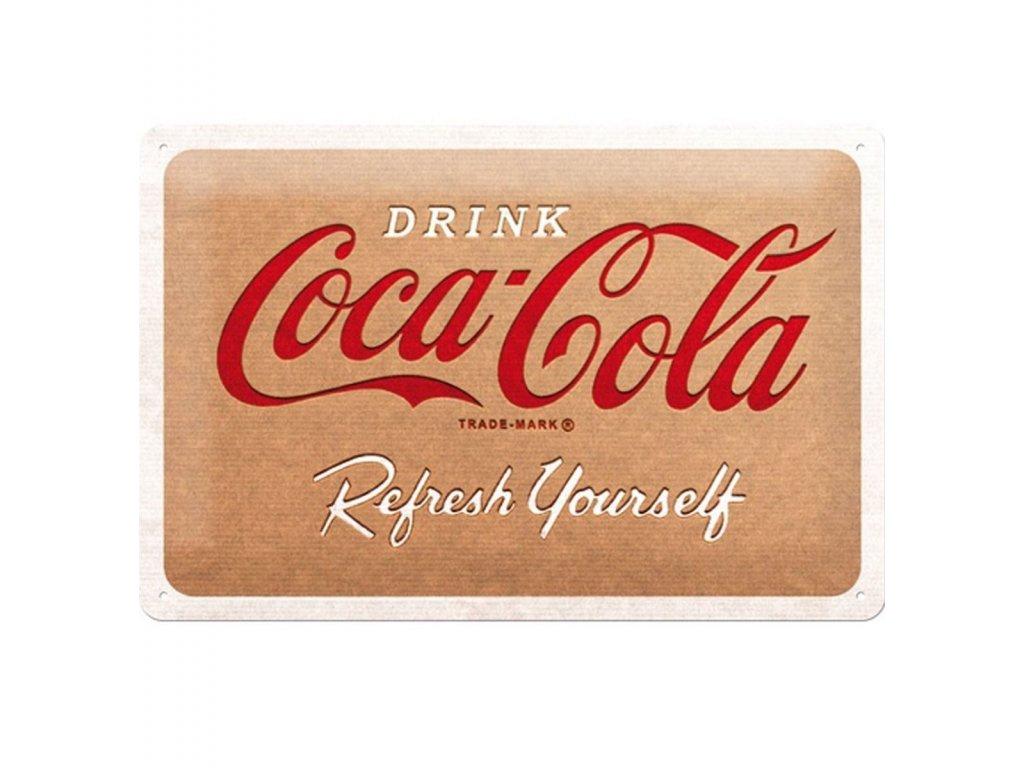 Plechová Ceduľa Coca-Cola Cardboard Logo